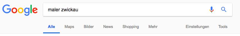 Google Optimierung für Maler