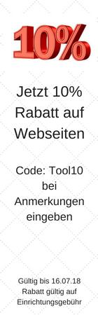 Jetzt 10% Rabatt auf Webseiten
